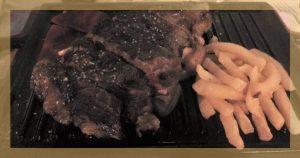 Lomo bajo de vaca con piquillo confitado Tierra del Queiles