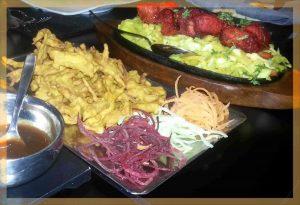 Onion Bhaji y Murgh Ka Tikka